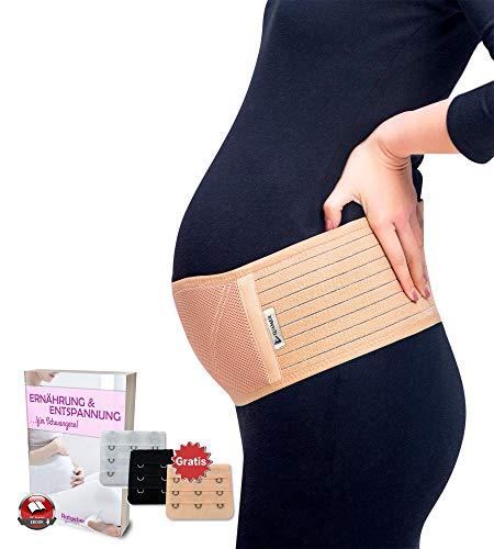 Luamex® Schwangerschaftsgürtel - Schwangerschafts Bauchband - Schwangerschaftsgurt in Verstellbarer Größe - Bauchstütze gegen Bauch- und Rückenschmerzen - Bauchgurt - Schwangerschaftsband - Damen
