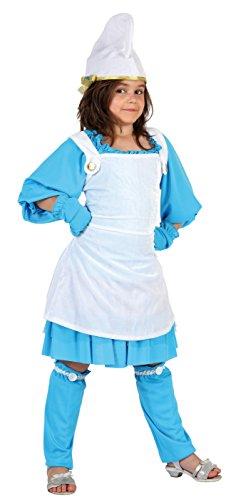 Atosa 7035 - Verkleidung Kobold Blau Mädchen Gr. 140 (Für Kobold-kostüme Mädchen)