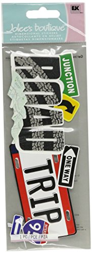 Jolee's Boutique Title Waves Dimensional Stickers-Road Trip (Scrapbooking Road Trip)