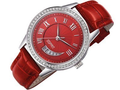 Esprit ES106002003 Susie Crescent Silver Red Ladies Watch