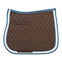 USG Cotton Saddle Cloth Dressage Warm Blood Brown/Petrol