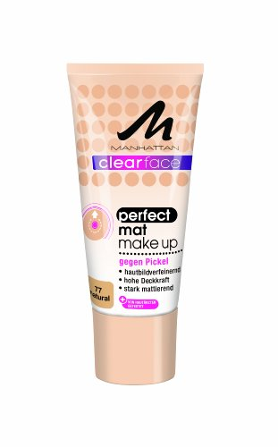 Abgedeckt Creme (Manhattan CF Perfect Mat Make-Up 77, 1er Pack (1 x 25 ml))