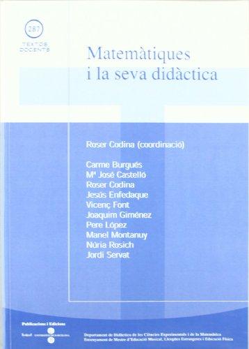 Matemàtiques i la seva didàctica