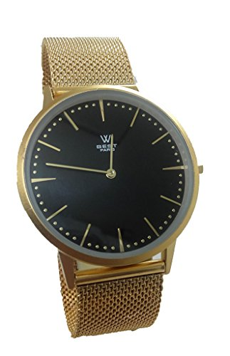 Watch Unisex Brand Best of Steel Extra-Flat Gold