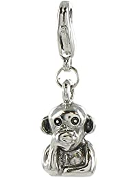 Quiges Fashion Jewellery Charms Argent Couche Sens Parlant