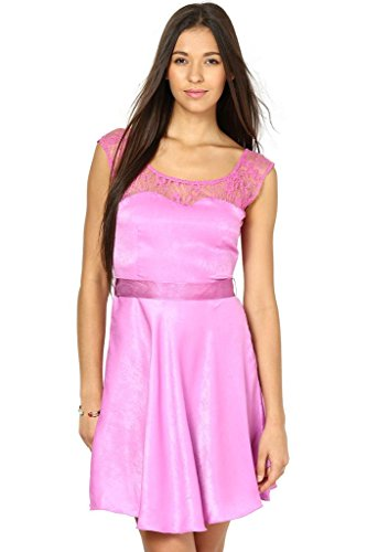 The Vanca Women Pink skater dress  available at amazon for Rs.279