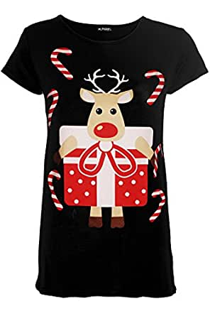cc2aff51ab8 Fashion Star Oops Outlet Kids Girls Children Christmas Xmas Reindeer Gift  Present Candy Stick T Shirt