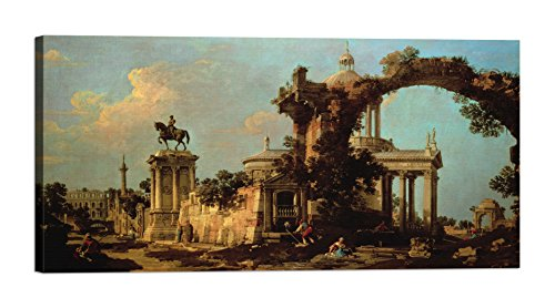 DìMò ART Leinwanddruck Canaletto Capriccio of Roman Ruins with a Renaissance Church Größe 140x70...