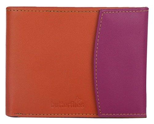 Butterflies porte-monnaie à la main dames fermeture magnétique sac à main d'embrayage femmes Orange