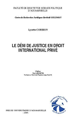 Le déni de justice en droit international privé
