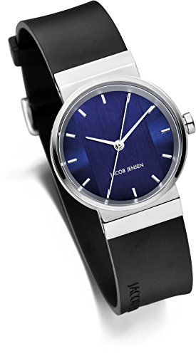 Jacob Jensen Unisex-Adult Analogue Quartz Watch with Rubber Strap JJ749