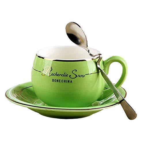 Porzellan Keramik Tee-Tasse Tasse Kaffee, Grün