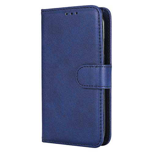 DENDICO Galaxy S4 Stand Hülle Etui, Leder Wallet Klapphülle Flip Book Case TPU Cover Ultra Slim Bumper Tasche for Samsung Galaxy S4 - Blau