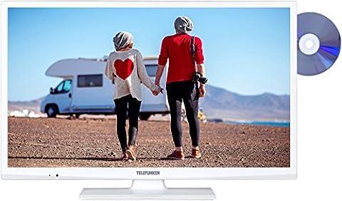 Telefunken XH24A101VD-W 61 cm (24 Zoll) Fernseher (HD Ready, Triple Tuner, DVD-Player)