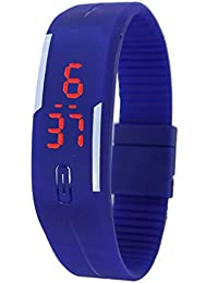 Snapcrowd-LED Blue Digital Watch For Kids Boys Men And Girls