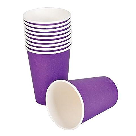 Tankerstreet jetables Violet papier Tasses pour boissons chaudes froid 255,1gram Lot de 8