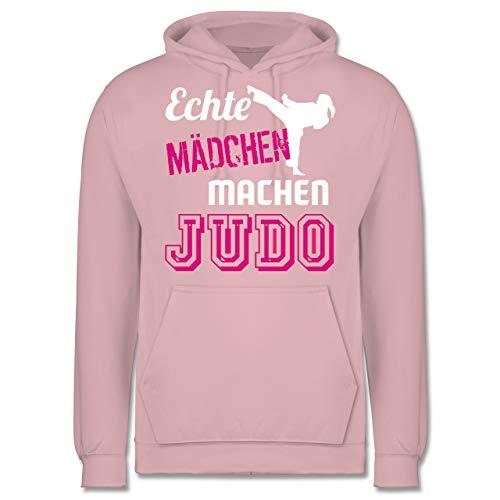 Shirtracer Kampfsport - Echte Mädchen Machen Judo - L - Hellrosa - JH001 - Herren Hoodie