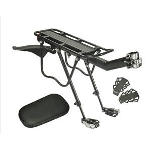 41inhPTcG5L. SS300 Extrbici - Portapacchi posteriore per bici, con parafango, luce posteriore e cuscino, in lega di alluminio, asta di…