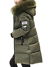 Hibote Donna Giacche Lunga Cappotto Inverno Piumino Giacca Felpa con  Cappuccio Giacca con Zip Felpa Giacca a598fe0bc15e