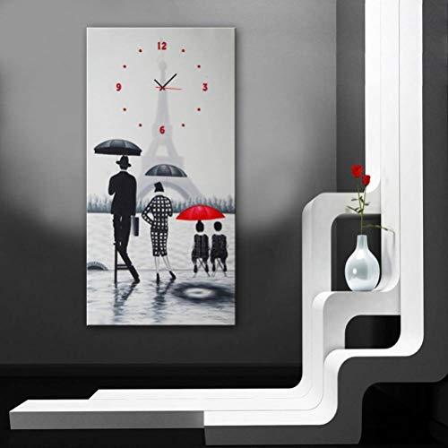 TWL LTD Das Moderne Wohnzimmer, in Dem Dekorative Gemälde zu Sehen Sind, War EIN Eiffelturm, Uhren und Gemälde, 1PCS, 30 * 60 cm