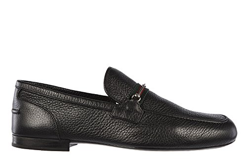 Gucci mocassini uomo in pelle originale road nero EU 39.5 337061 AHM10 1060