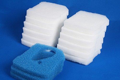 350T Sin Marca Estera de filtro Esponja de filtrado gruesa y fina de reemplazo para Professional Pro 3 250 600// Ultra G Pro 3 Filter 2071,2073,2075 y Eheim Pro 3e 350//2074 5 piezas por 1 estera 350 250T