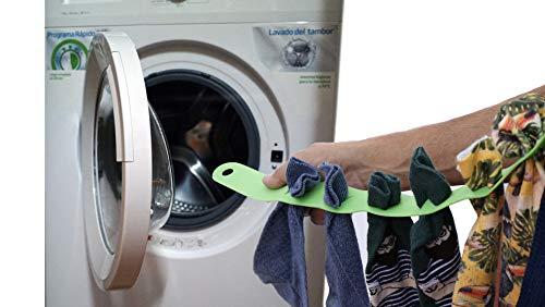 Cinta flexible para mantener el orden de loa calcetines,u otras prendas pequeña, dentro de lavadora y en el tendedero. 2018 (naranja)