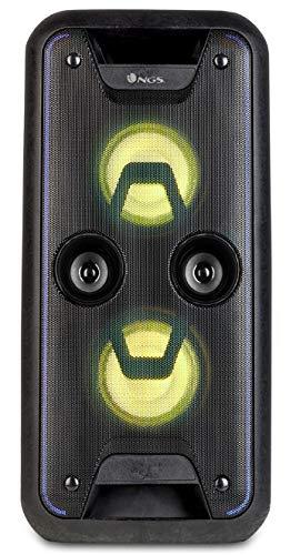 """NGS WILDJAM - Altavoz portátil USB/SD/Bluetooth/Radio FM con Doble subwoofer de 5,25\"""" y 120W de Potencia"""