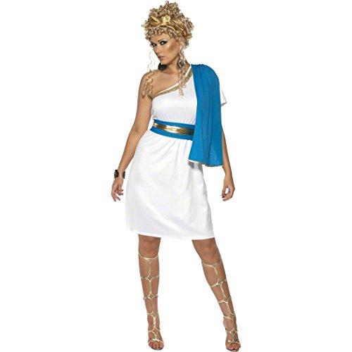 NET TOYS Göttin Kostüm Göttinnenkleid weiß M 40/42 Römerin Kostüm Antikes Kleid Göttin Kleid Damenkostüm Faschingskostüm