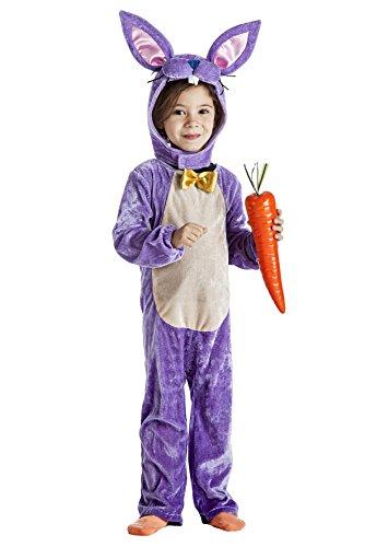 Imagen de disfraz de conejo lila infantil 7 9 años