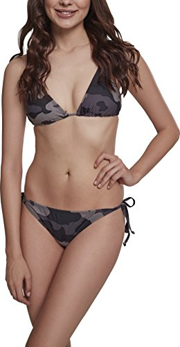 Urban Classics Damen Ladies Camo Bikini-Set, Dark, L