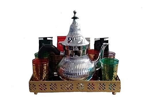 nouvelle version plus près de Los Angeles DonRegaloWeb Service à thé marocain avec théière, plateau, tasses et  assortiment de thés