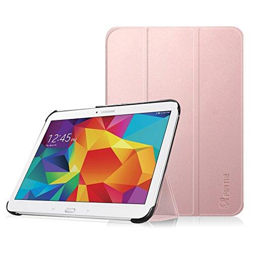 Fintie Hülle für Samsung Galaxy Tab 4 10.1 SM-T530 SM-T535 - Ultra Schlank Superleicht Ständer SlimShell Cover Schutzhülle Etui Tasche mit Auto Schlaf/Wach Funktion, Roségold