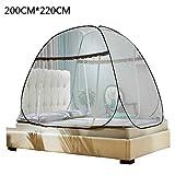 Necessario Installazione gratuita di zanzariere, zanzariera for letto singolo e doppio, Conservazione contro gli insetti, seduta for letto (Size : 200x220cm)