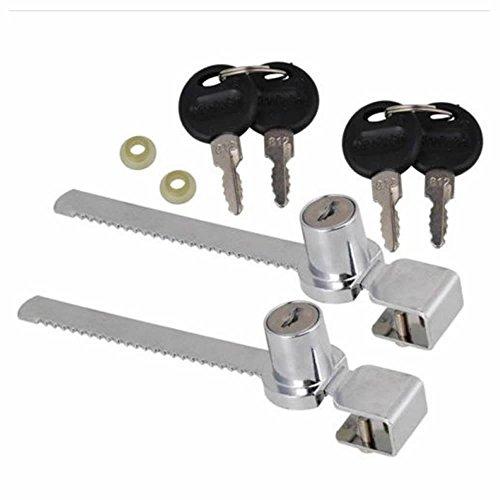 GOOTRADES 2 Set Schiebe Glas Tür Schrank Schaukasten Verschluss + 2 Schlüssel (Glas-schiebe-türen)