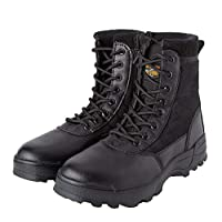 MK Mens Combat Boots Securtity Patrol Tactical Cadet Military Hiking Boots ...