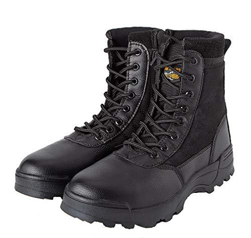 MK Botas de Combate para Hombre, diseño Militar, Color Negro, Talla 42 EU