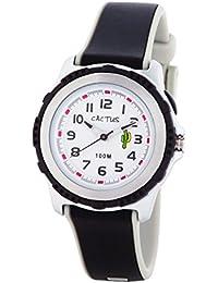 Cactus CAC-78-M01 - Reloj de pulsera niños, Plástico, color Negro
