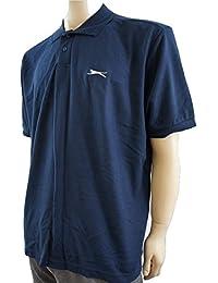 Slazenger - Polo -  - Manches courtes Homme Bleu Bleu marine