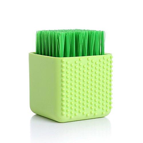 Silikon Pinsel weichen Haar sauber Pinsel waschen Schuhe Bürste Unterwäsche reinigen Wäsche Unterwäsche Pinsel Dual Pinsel (Grün) (Unterwäsche Gabbana)