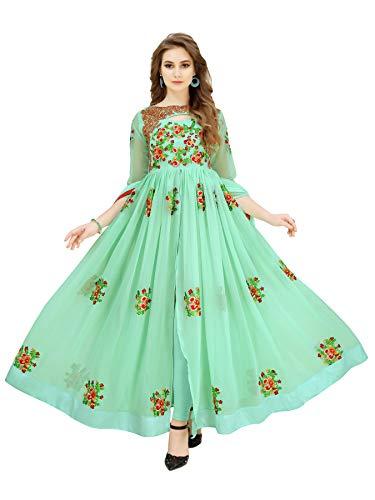 Florely Women\'s Faux Georgette Lehanga Choli (Green_chitrangada _Green_ Free Size)