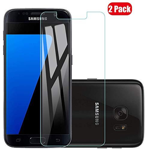 Voviqi Samsung Galaxy S7 Panzerglas, 9H verbesserte gehärtetes Glas Folie [Blasenfrei] [Anti-Fingerabdruck] Displayschutzfolie für Samsung Galaxy S7, 2 Stück