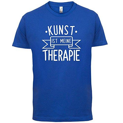 Kunst ist meine Therapie - Herren T-Shirt - 13 Farben Royalblau