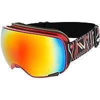 NAVIGATOR VISION - Gafas para esquiar y snowboard - Lentes intercambiables - Varios colores (rojo)