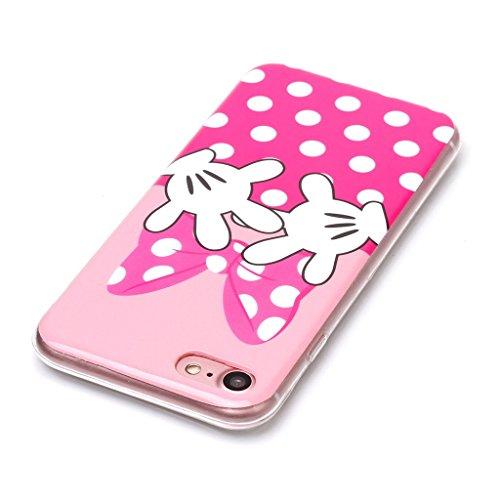 Custodia per iPhone 8 (2017), Custodia per iPhone 7 (2016) ,JIENI Protezione Morbido grande immagine TPU Bumper Cover Silicone Case per iPhone 8 (2017) e iPhone 7 (2016) A8