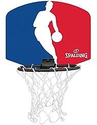 Spalding 77602Z Mini tabellone basket logo NBA, Blu/Bianco/Rosso