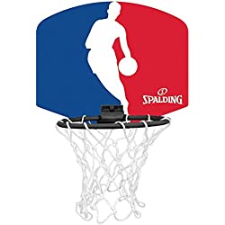 Spalding - 77602Z - Mini Panier Basket - Ballon Inclus - Mixte Adulte - Multicolore (bleu/blanc/rouge) - 29 cm x 24 cm