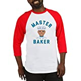 Best CafePress Bakers - CafePress Emoji Master Baker Cotton Baseball Jersey, 3/4 Review