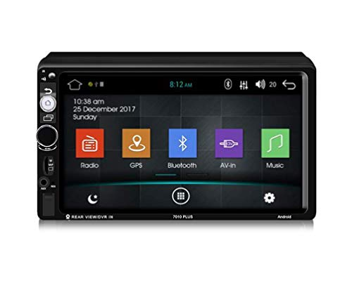 Z-SGYX 7 '' Android 8.1 In Bindestrich Full HD Touchscreen Doppeltes Autoradio-Stereo-Audio-MP5-Player Unterstützung Spiegel Link/WiFi/Bluetooth/GPS/FM-Auto MP5-Player