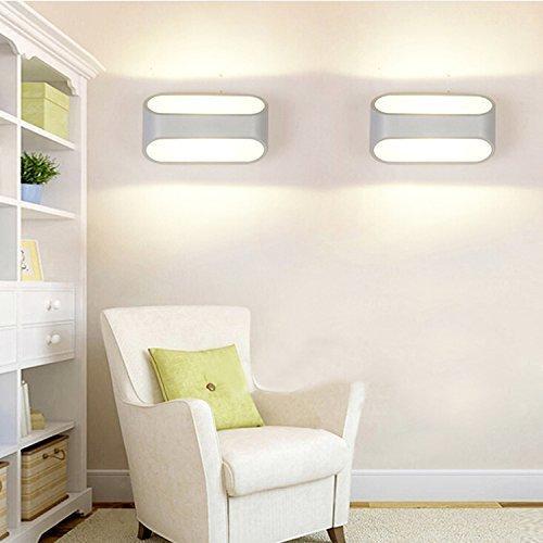 Lightess lampada da parete a led 5w stile moderno applique per decorazione interna soggiorno - Lampada per soggiorno ...